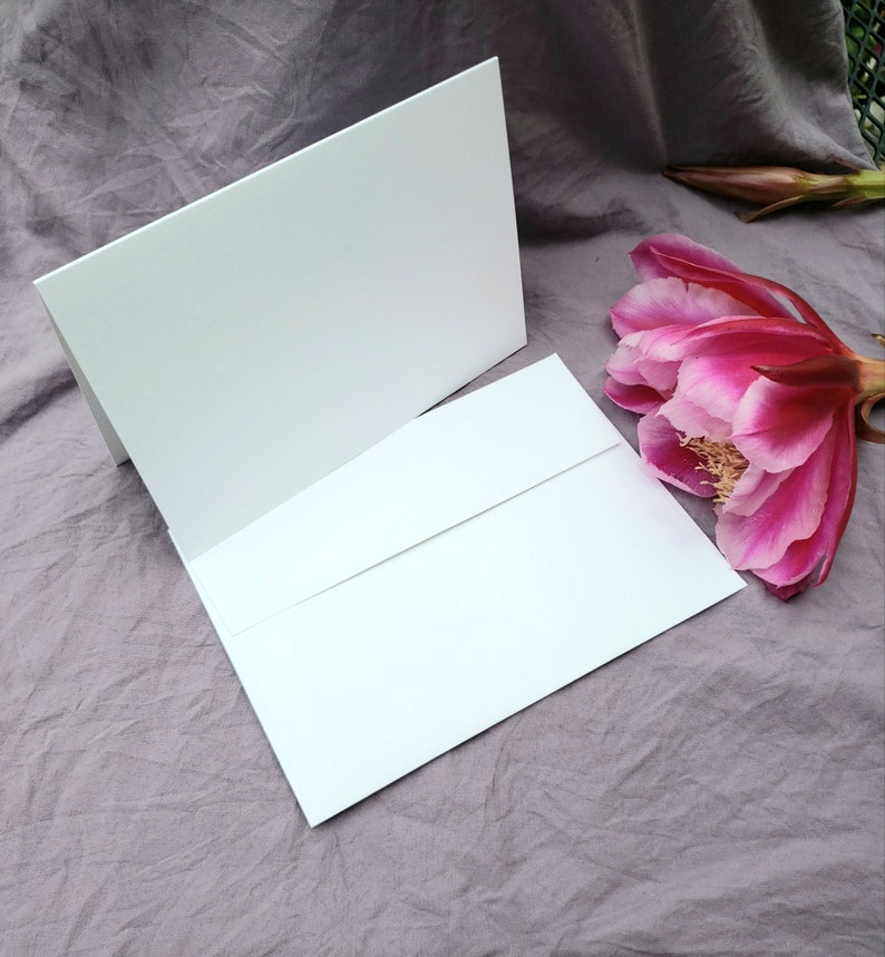 Multiple sizes Watercolor Print Agapanthus Set of 5 Folded Cards w Envelopes Lily of the Valley Blank Inside