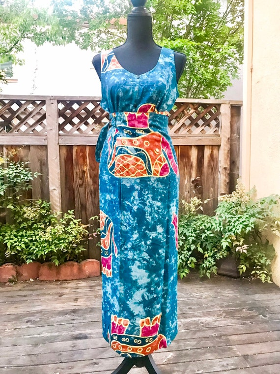 Gorgeous Print Two Piece Wrap Skirt and Blouse