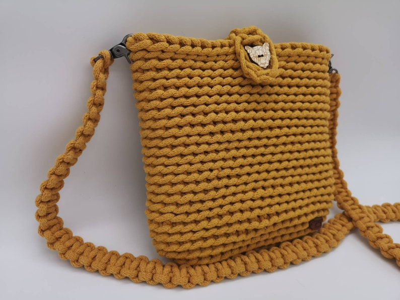 Crochet bag shoulder bag shoulder bag handbag fabric bag image 1