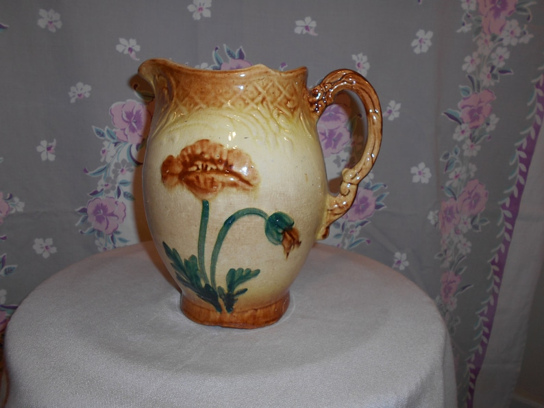 Pre-1916 Roseville Pottery Hand Painted Pitcher