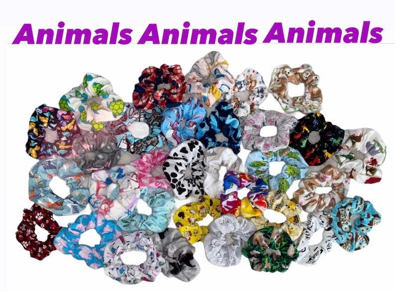 Scrunchies By Mar Handmade Animal Collection Black Bear Scrunchie