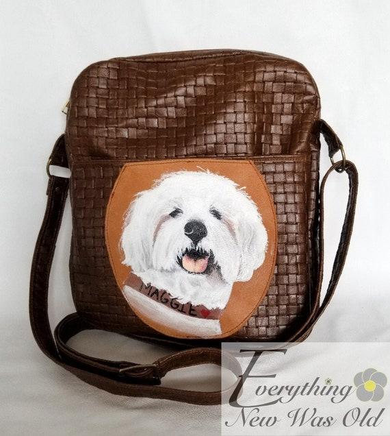 Personalized Dog Painting Unisex Crossbody Single Shoulder Bag Messenger Bag