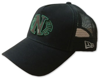 online retailer 25fd1 a3efb Dark n Cold Camo Egg Logo Adjustable Trucker Snapback Cap Black