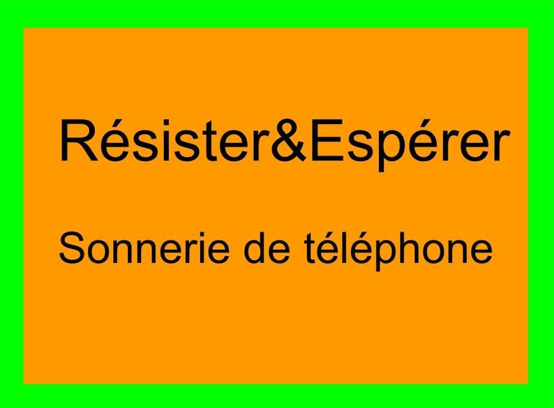 Resist & hope phone ringing image 0