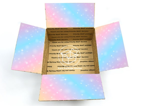 birthday colorful box decoration rainbow Care package flaps surprise kids college care package box stickers unicorn get well soon
