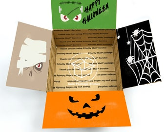 Halloween care package stickers / spooky college care package for him / halloween box for boyfriend / halloween care package flaps for her