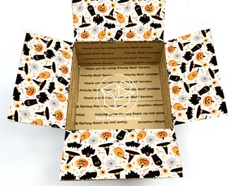 Halloween care package flaps / halloween box for boyfriend / college care package / gift box stickers / halloween care package sticker kit