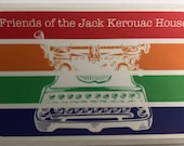 Typewriter Sticker by Friends of the Jack Kerouac House