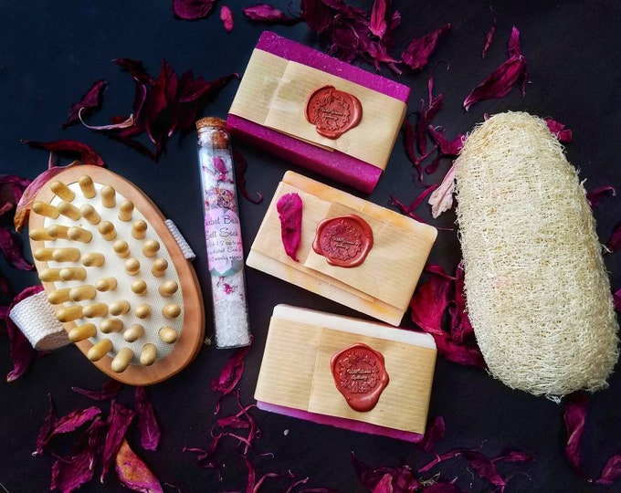 Luxury Spa Gift Basket, Bath Bomb Gift Set, Spa Day, Self Care Ritual Bath, Bath Fizz Soak, Moisturize Dry Skin, Mother's Day Gift for Her