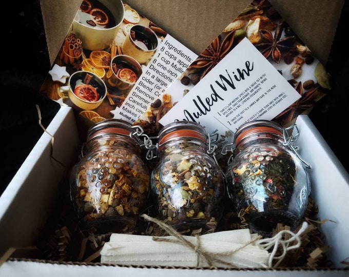 Winter Blends Loose Leaf Tea Gift Set Trio, all natural handcrafted artisan wildcrafted organic loose leaf gourmet herbal tea