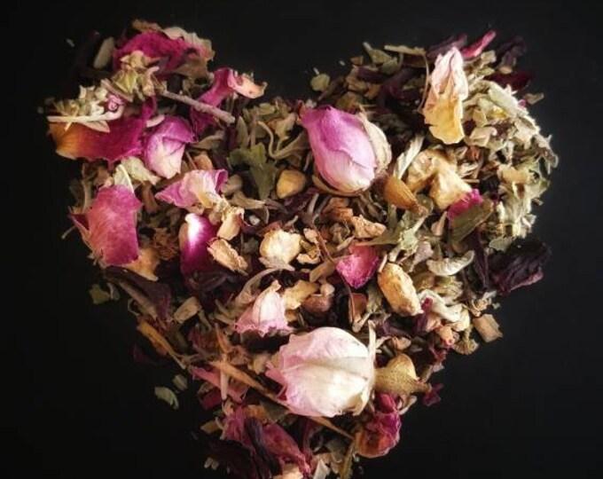 Aphrodite Loose Leaf Tea Blend, Aphrodisiac, handcrafted artisan wildcrafted organic gourmet herbal tea, all natural tea bag, caffeine free