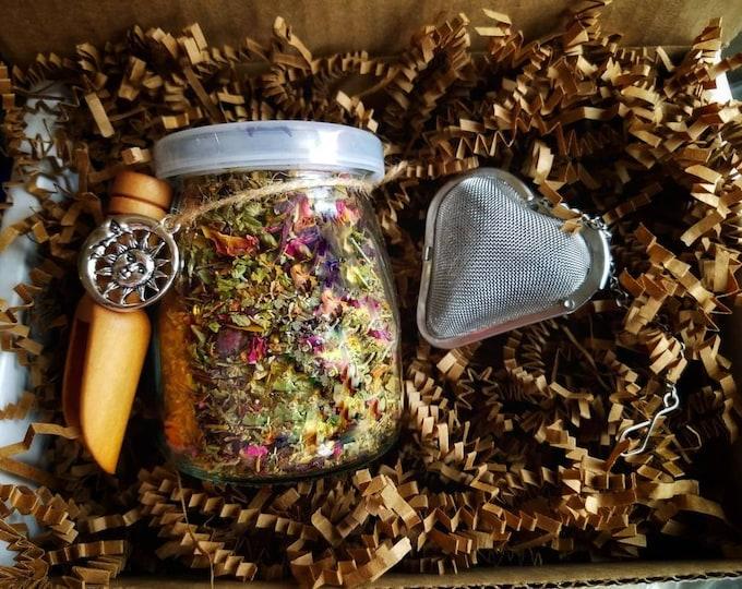 Botanical Blends Loose Leaf Tea Gift Set, all natural handcrafted artisan wildcrafted organic loose leaf gourmet herbal tea, Tea Lover Gifts