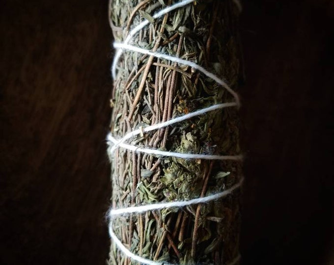 OREGANO Smudge WandSmoke Cleansing Ritual House Smudging Sage Sticks Natural Incense Smudging Dried Herb Bundle Altar Tools Offerings