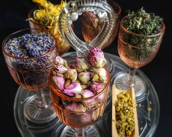 Fairy Herb Sampler Apothecary Starter Kit Herbalism Incense Wicca Ritual Pagan Smudge Medicinal Chakra Reiki Candle Soap Resin Faery Fae