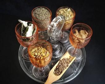 Divine Feminine Herb Sample Apothecary Starter Kit Herbalism Incense Wicca Ritual Pagan Smudge Medicinal Herb Chakra Reiki Candle Soap Resin