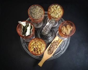 Psychic Spirit Herb Sampler Apothecary Starter Kit Herbalism Incense Wicca Ritual Pagan Smudge Medicinal Chakra Reiki Candle Soap Resin