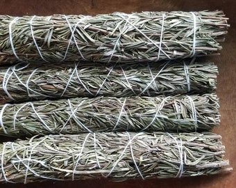 ROSEMARY Smudge WandSmoke Cleansing Ritual House Smudging Sage Sticks Natural Incense Smudging Dried Herb Bundle Altar Tools Offerings