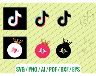 c9c4b01d861e Musicalement Layered coupe fichiers SVG pour cricut-Tik Tok logo haute  résolution de t-