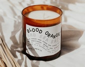 blood orange + sea salt | soy and coconut wax candle