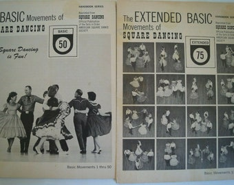 Square Dance Vintage Soft Cover Instructional Booklets x 2 Basics & Extended