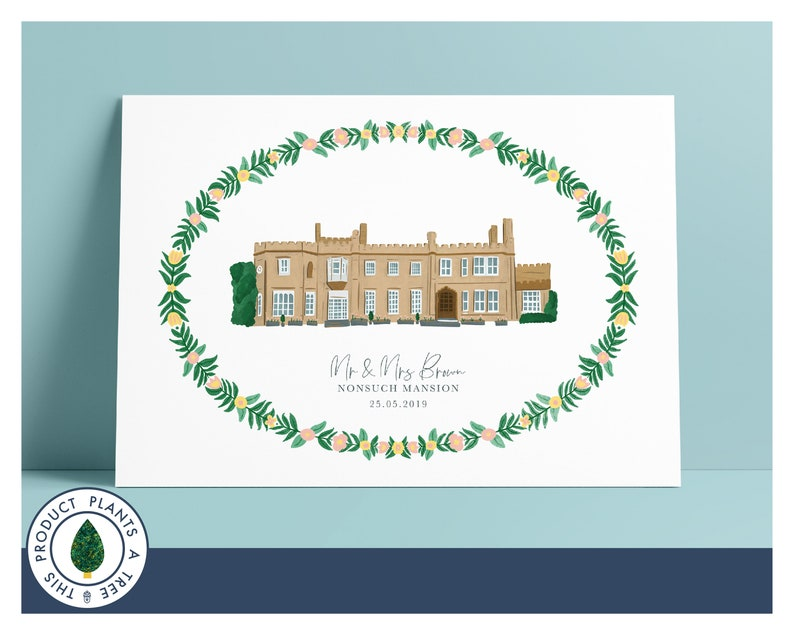 Nonsuch Mansion  Personalised Wedding Gift  Anniversary Gift image 0