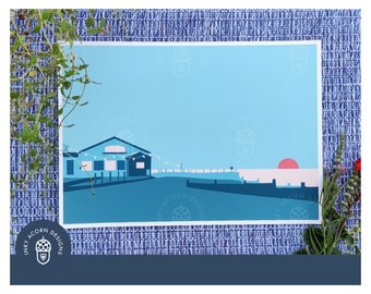 Whitstable   East Quay   Different Colours Available   Beach   Sunset   Giclee Art Print   A5, A4 or A3   Unframed   Wedding Gift