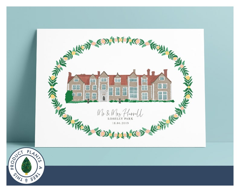 Loseley Park  Personalised Wedding Gift  Anniversary Gift  image 0