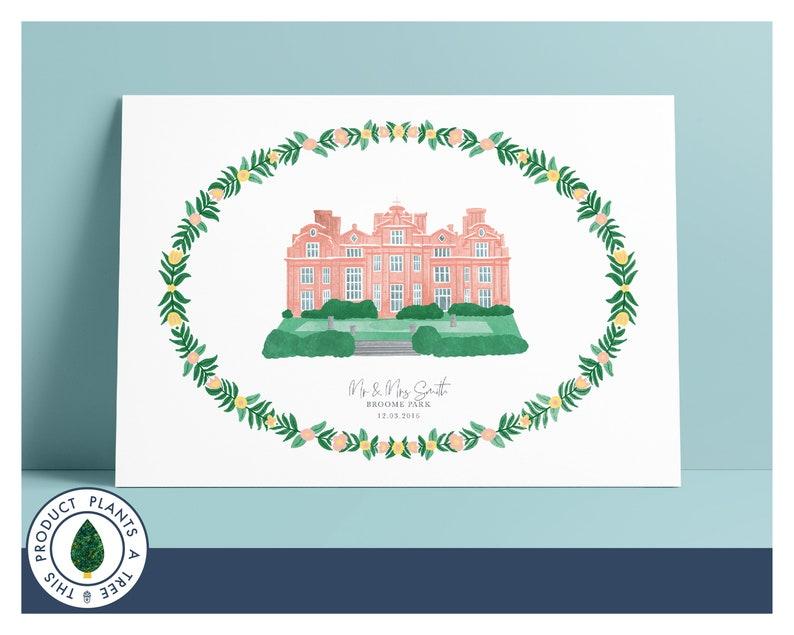 Broome Park Hotel  Personalised Wedding Gift  Anniversary image 0