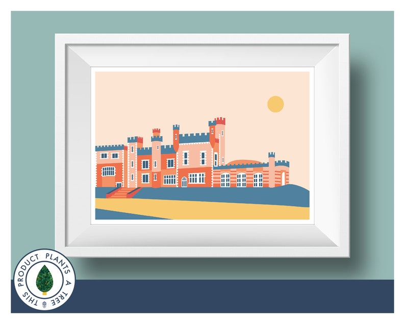 Whitstable Castle  Whitstable  Colourful  Graphic Print  image 0