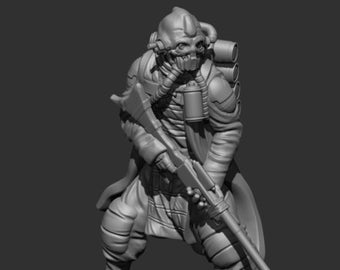 Insurgent Zealot Gemini 1 Miniature - UNPAINTED | 3D Printed |  SkullForge Studio| Legion | RPG | Scifi | Role Playing | D&D |