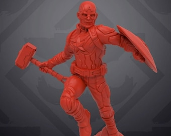 Agent Washington Miniature| 3D Printed |  Skull Forge Studios| MCP | RPG | Scifi | Role Playing | D&D |