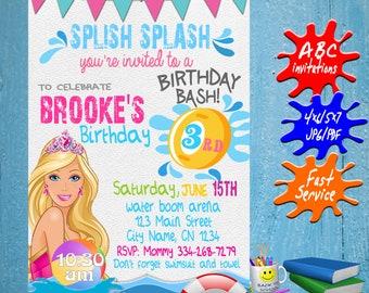 Barbie Party Invite Etsy