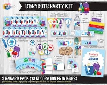 DIGITAL Printable: StoryBots Inspired Birthday Party Kit