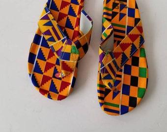 77080eec3fc5a Kente slippers | Etsy