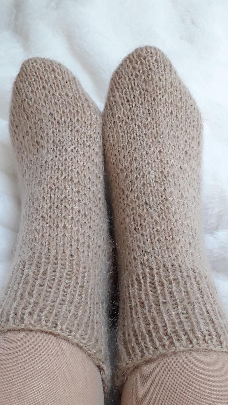 Alpaca  merinolurex knit socks luxury socksbeige sockswarm socksbed socks