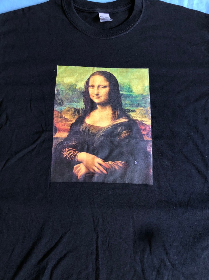 Mona Lisa graphic t shirt design