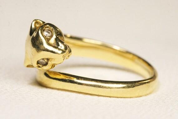 18ct Diamond Panther Figural Ring