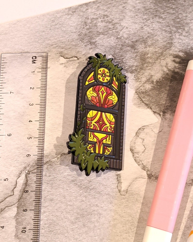 Pin Collection Lapel Pin Enamel Pin Cute Badge Brooch Bag Pin Soft Enamel Pin Stained Glass Window #3