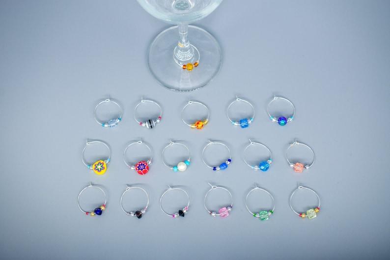 Wine Glass Charms  Fun Beaded Charms  Fun Wine Gifts  Wine Lover Charms
