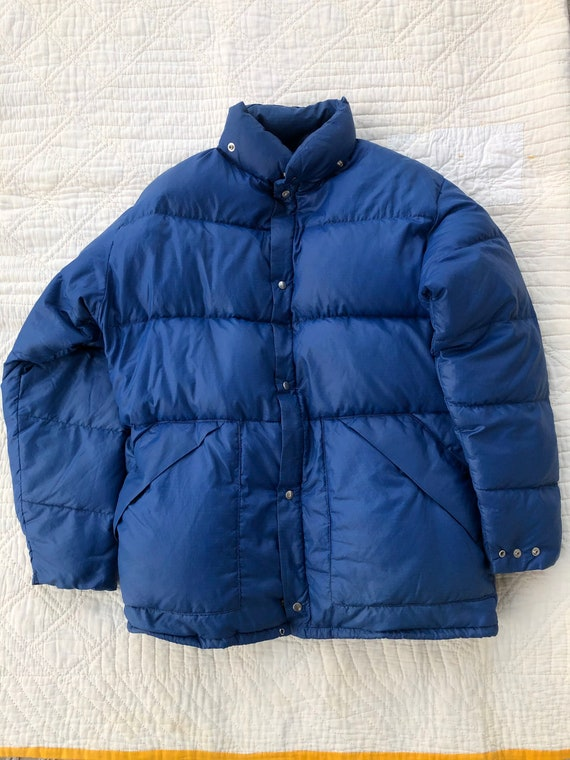 80s Woolrich Blue Ripstop Down Puffer Jacket Large
