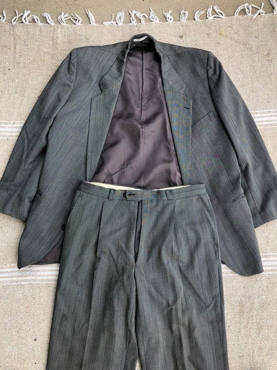 Yves Saint Laurent Grey Wool Suit 1980s