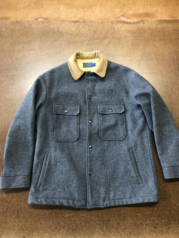 70s Pendleton Grey Wool Coat Large