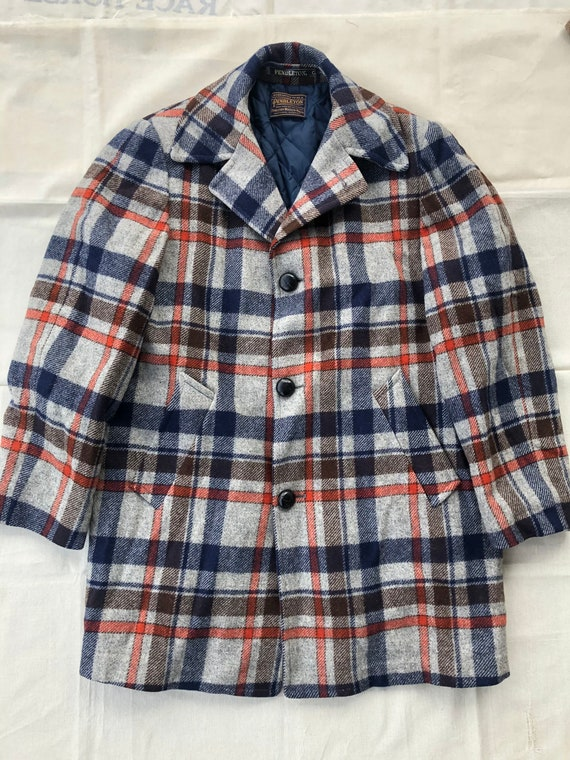 80s Wool Pendleton Pea Coat Large