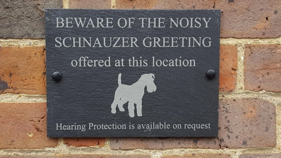 Humorous Beware Of The German Shepherd Dog Slate Sign Plaque 3 Sizes Available
