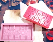 POTIONS STYLE 2 - Wax Melt Snap Bar Silicone Mould - Exclusive Design - Make Your Own Scented Wax Melts