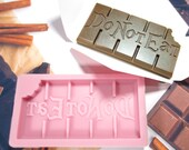 DO NOT EAT - Wax Melt Snap Bar Silicone Mould - Exclusive Design - Make Your Own Scented Wax Melts