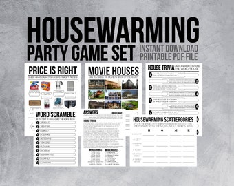 picture about Printable Housewarming Games called Housewarming game titles Etsy