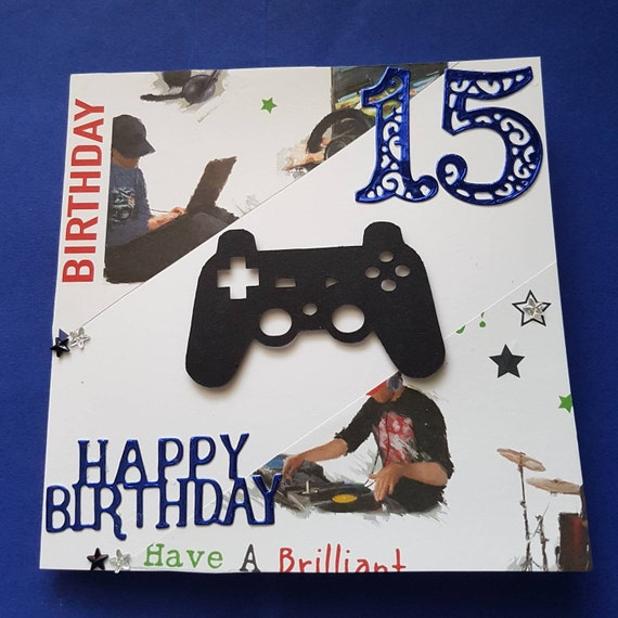 Personalised 3D Fortnite Mobile//Phone Birthday Card Son//Daughter//Grandson