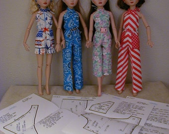 4848dd26ed6 Halter Jumpsuit Reversible Scarf Pattern 16EW12 For Tonner Wilde  Imagination s Ellowyne