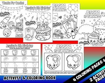 Shopkins Coloring Etsy